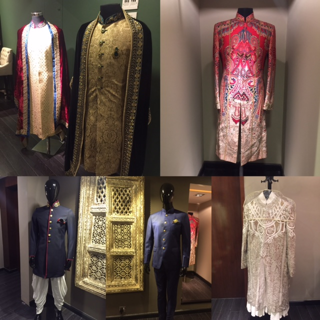 Traditional with a twist - the lovely red and white Sherwani
